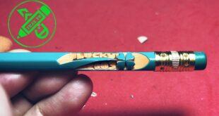 Hướng dẫn nhanh: Một cây bút chì cỏ 4 lá may mắn cực dễ - Chúc các bạn 2k3 thi tốt #shorts
