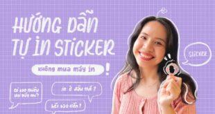Hướng Dẫn Tự In Sticker, Logo, Nhãn Dán Shop Từ A - Z | Happy Hidari