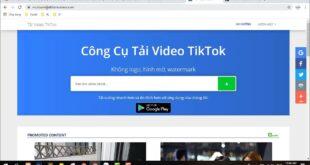 Hướng Dẫn Tải Video Tiktok Không Logo Trong 5s